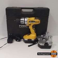 PowerPlus X0057 18V Accuboormachine incl. 3 Accu's in Goede Staat