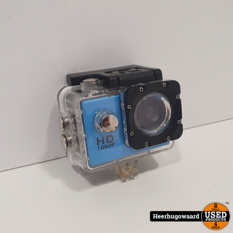 HD Action Cam 1080p Blauw - In Goede Staat