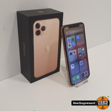 iPhone 11 Pro 64GB Gold in Nieuwstaat Compleet in Doos - Accu 100%