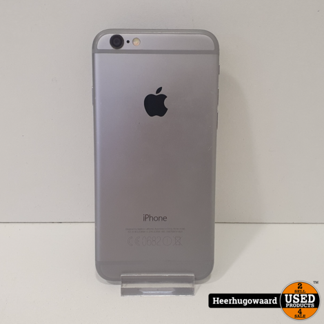 iPhone 6 16GB Space Grey in Nette Staat - Accu 95%
