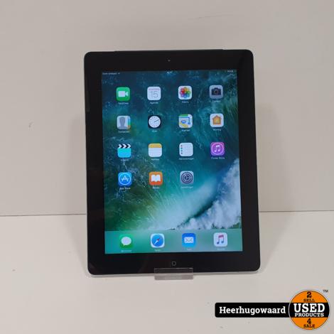 iPad 4 16GB Silver WiFi + 4G in Nette Staat met Nieuwe Accu