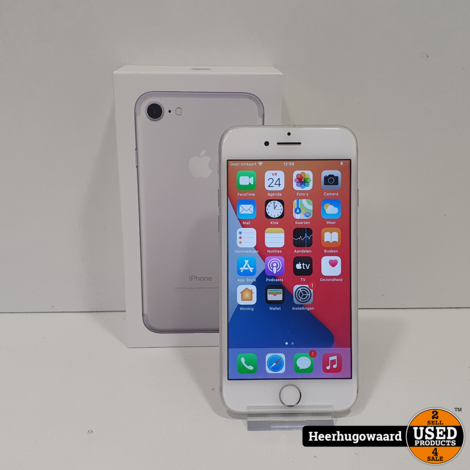 iPhone 7 32GB Silver Compleet in Doos in Nette Staat - Accu 100%