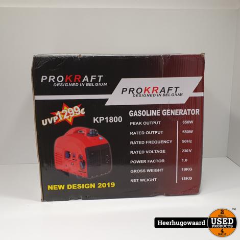 ProKraft KP1800 Benzine Generator 1800W Nieuw in Doos
