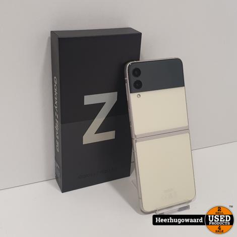 Samsung Galaxy Z Flip3 5G 128GB Cream Compleet in Zeer Nette Staat