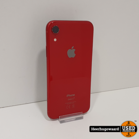 iPhone XR 64GB Red Compleet in Goede Staat - Accu 87%