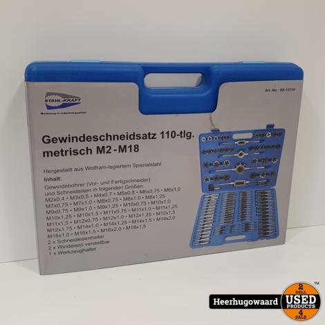Stahl-Kraft SK-13110 110 Delige Gereedschapskoffer in Zeer Nette Staat