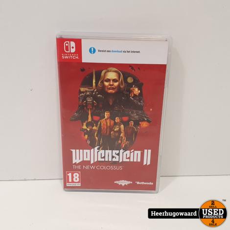 Nintendo Switch Game: Wolfenstein The New Colossus