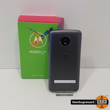 Lenovo Moto G5s 32GB Lunar Grey Compleet in Zeer Nette Staat
