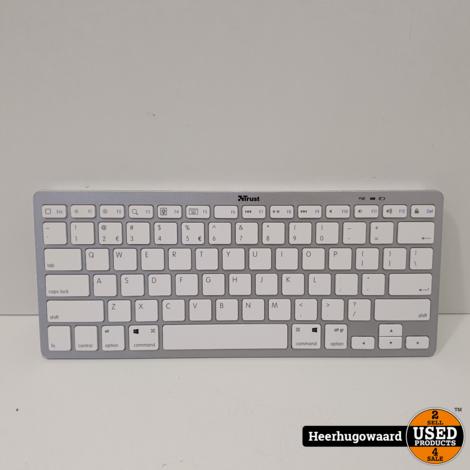 Trust Wireless Keyboard 21564 Wit in Nette Staat