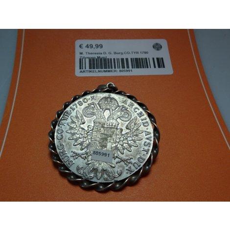 M. Theresia D. G. Burg.CO.TYR 1780 Zilveren Munt
