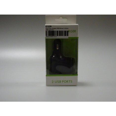 3 in 1 Car Charger USB Nieuw in blister | Met garantie