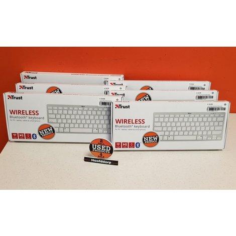 Trust 21564 toetsenbord Bluetooth QWERTY Wit nieuw in doos | garantie
