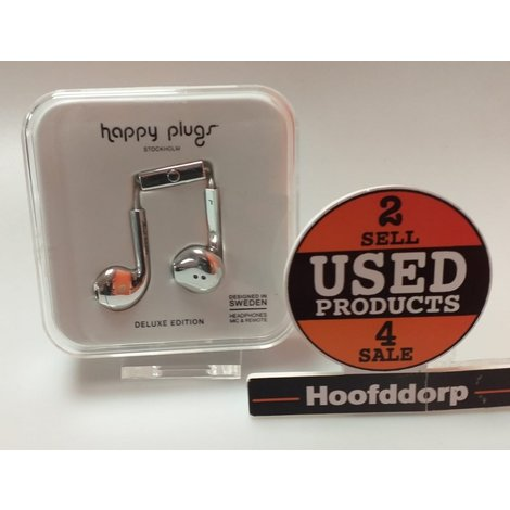 Happy Plugs Earbud Plus - In-ear koptelefoon - Zilver | Nieuw in Seal