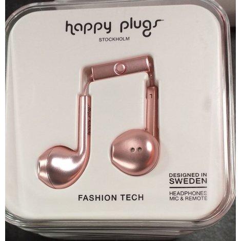 Happy Plugs Earbud Plus - In-ear oordopjes - Rozegoud | Nieuw in Seal