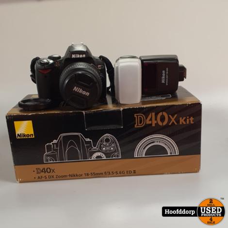 Nikon D40X kit met 18 - 55MM Lens en Flitser