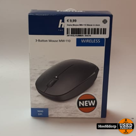 Hama Mouse MW-110 Wireless mouse Nieuw in doos