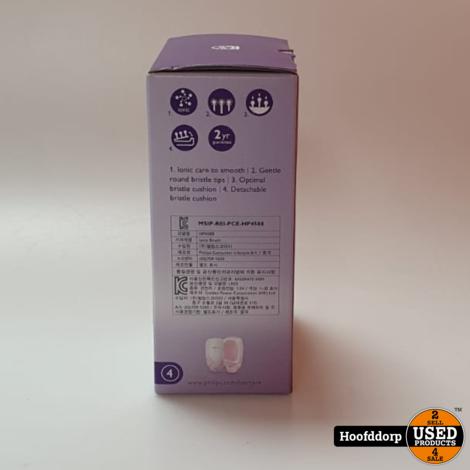 Philips EasyShine HP4588/00 haarstyler Straightening stijlborstel Roze Wit