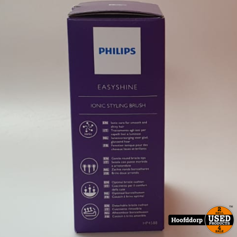 Philips EasyShine HP4588/00 haarstyler Straightening stijlborstel Roze Wit