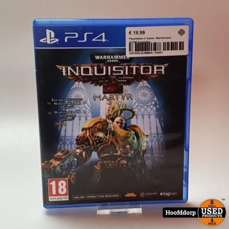 Playstation 4 Game: Warhammer 40.000 Inquisitor