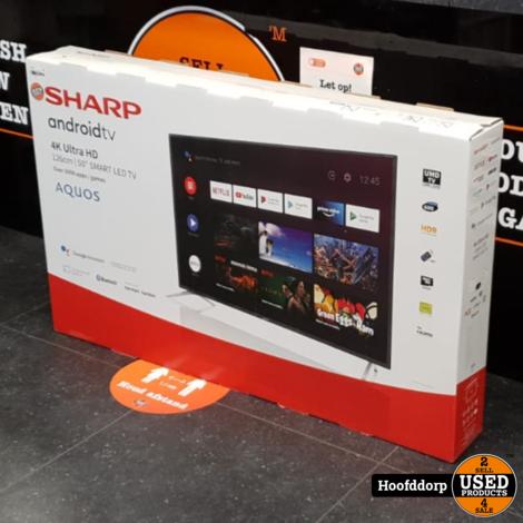 Sharp 50BL2 50inch 4K Ultra HD Andriod Smart TV | Nieuw in doos