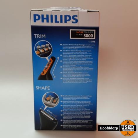 Philips Neustrimmer/Oorhaartrimmer Series 5000 Zachte trimmer voor neus nek en bakkebaarden NT5176/16