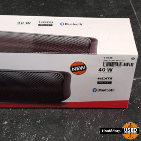 SHARP HT-SB95 40W 2.0 Slim Soundbar Bluetooth   Nieuw
