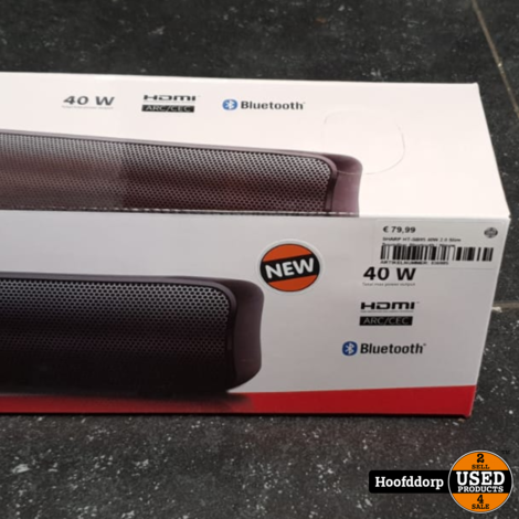 SHARP HT-SB95 40W 2.0 Slim Soundbar Bluetooth | Nieuw