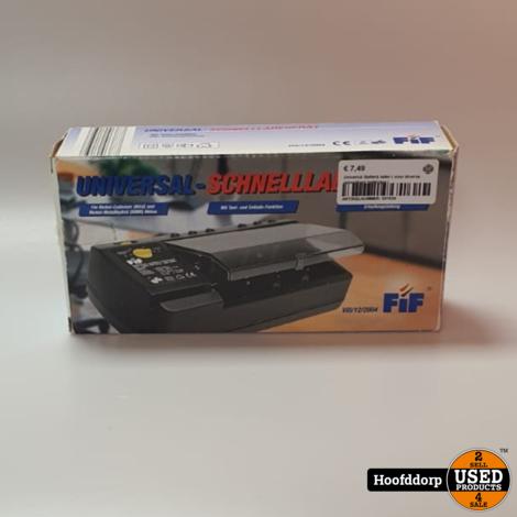Universal Batterij lader ( voor diverse oplaadbare batterijen )