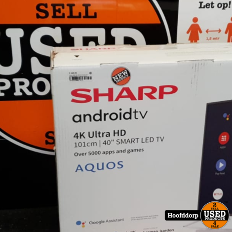 Sharp 40BL5EA 40Inch 4K Ultra-HD Andriod Smart TV | Nieuw in doos