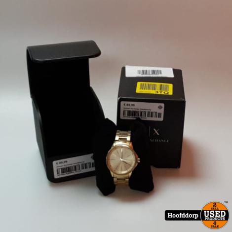 Armani Exchange Goudkleurig Vrouwen Horloge AX4346 | Nieuwstaat