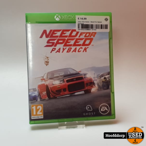 Xbox One Game : Need For Speed Payback