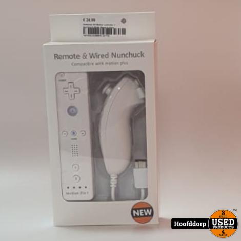 Wii Motion controller + Nunchuck White | Nieuw in doos