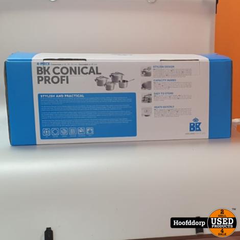 BK Conical Profi 4 delige pannenset | Nieuw in doos