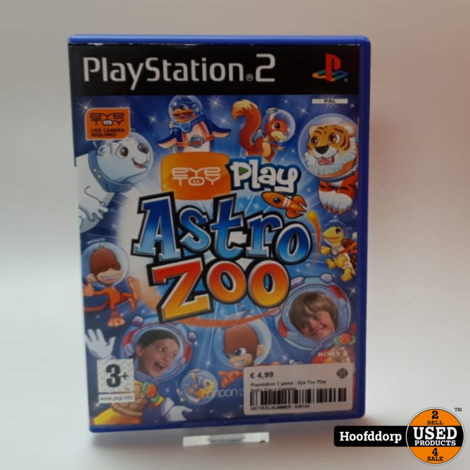 Playstation 2 game : Eye Toy Play Astro Zoo + camera