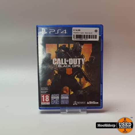 Playstation 4 game : Black Ops 4
