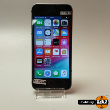 iPhone SE 32GB Space gray nette staat
