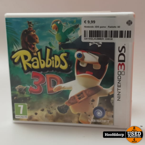 Nintendo 3DS game : Rabbits 3D