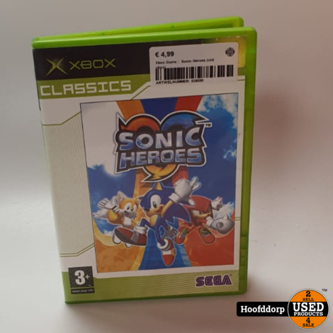Xbox Game :  Sonic Heroes (old xbox)