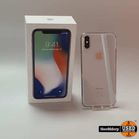 iPhone X 256GB Silver | Nette staat