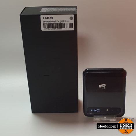 Samsung Galaxy Z Flip 256GB Mirror Black | Nieuw uit doos + Bon