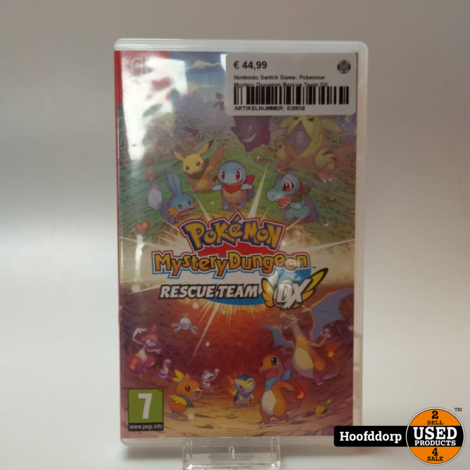 Nintendo Switch Game: Pokemon Mystery Dungeon Rescue Team DX