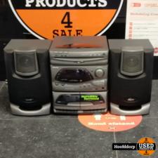 philips FW355C 3 disc cd changer met speakers