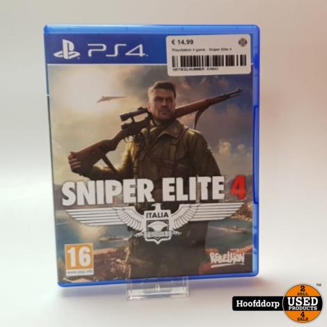 Playstation 4 game : Sniper Elite 4