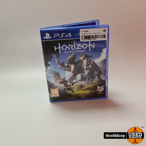 Playstation 4 game : Horizon zero dawn