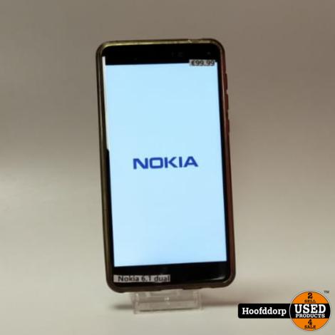 Nokia 6.1 Black dualsim redelijke staat