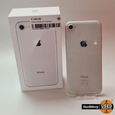 iPhone 8 64GB Silver gebruikt