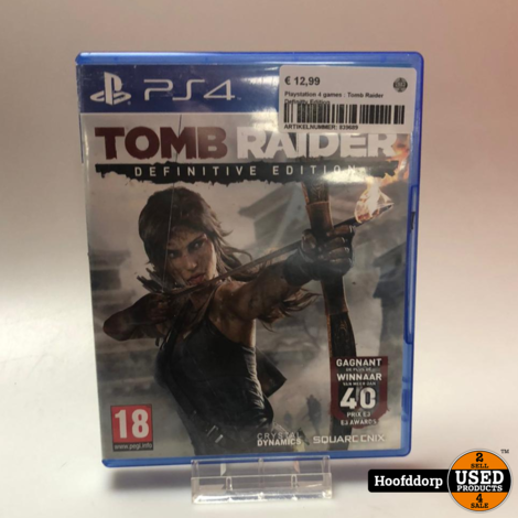 Playstation 4 games : Tomb Raider Definitly Edition
