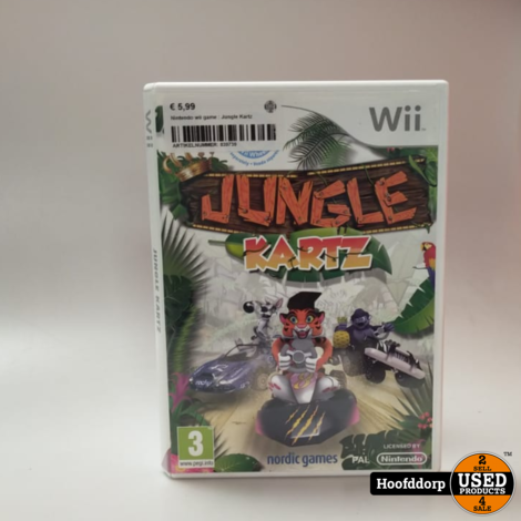 Nintendo wii game : Jungle Kartz