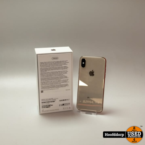 iPhone xs 256GB Gold nette staat