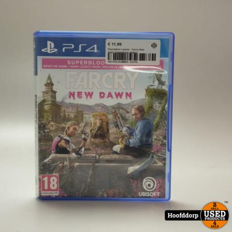 Playstation 4 game : Farcry New Dawn Superbloom edition